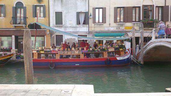 Floating vegetable stand near Campo Santa Margherita, Venice.