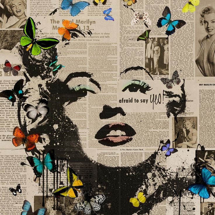 Find More Painting & Calligraphy Information about Audrey Hepburn, Marilyn Monroe silkscreen illustration modern retro Newspapers Canvas Wall Art Home Decor  Free shipping,High Quality decor canvas art,China art glass decor Suppliers, Cheap decorative sand art from WHAT ART on Aliexpress.com