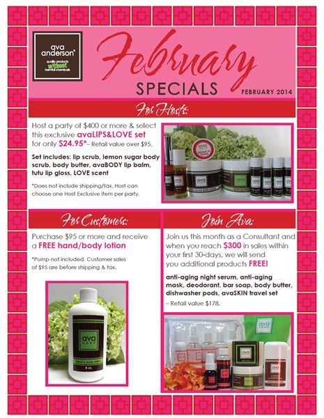February Specials!! Don't miss out on this opportunity!