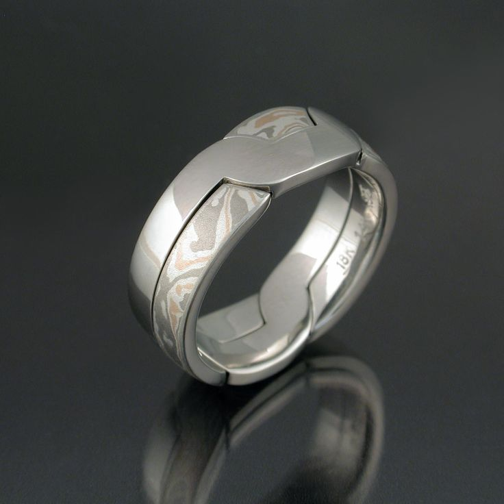 modern puzzle wedding ring the modern puzzle ring is similar to the mokume puzzle ring