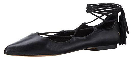 Windsor Smith Damen Strapp Ballerinas, Schwarz (Black Leather), 40 EU - Ballerinas für frauen (*Partner-Link)