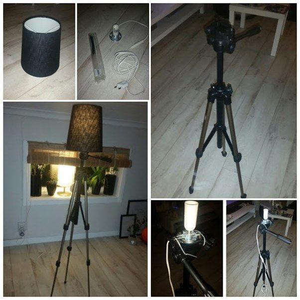 #DIY #stativlampa #Lampa #Återbruka