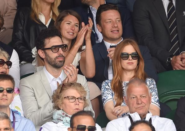 Sacha Baron Cohen and Jamie Oliver are also in the Royal Box on Centre Court. #Borat #Wimbledon