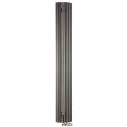 Jaga Iguana Circo Vertical Radiator Sandblast Grey, (H)1800 (W)278mm: Image 1