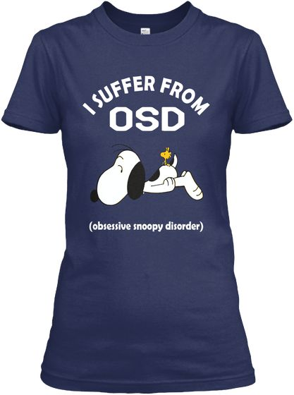 Snoopy Shirt I Suffer From Osd Navy Women's T-Shirt Front