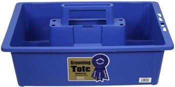 """Grooming Tote Tray . $12.99. Organize your grooming tools! A roomy grooming tote with handle to organize your grooming tools. Keep all your brushes and grooming aids in one handy place! Measures 20"""" long X 12"""" wide and 6"""" deep. Six colors to choose from!"""