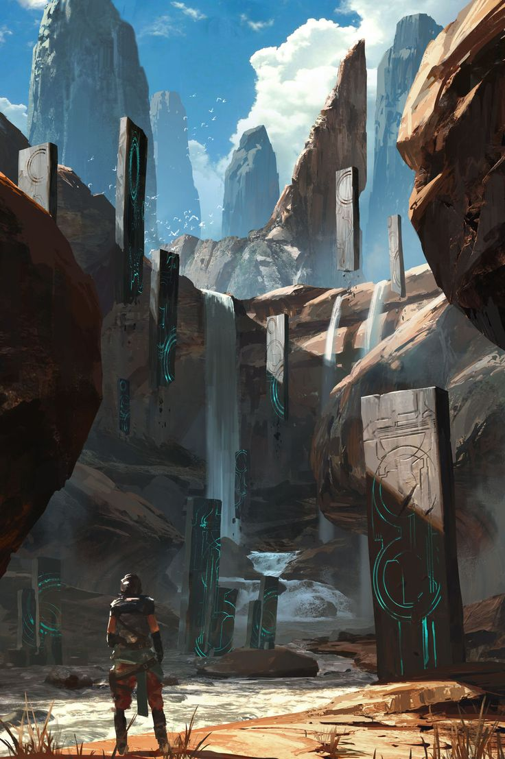 Ruínas de antigas civilizações.  Referências: ruínas com tecnologia…
