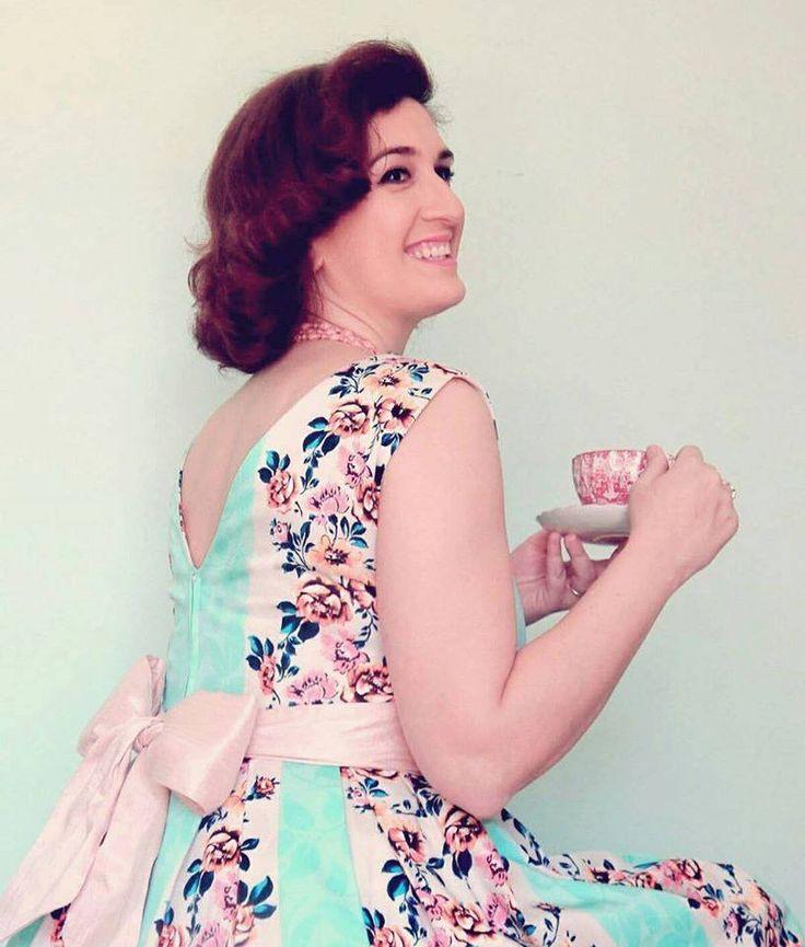 Custom made vintage reproduction tea dress.