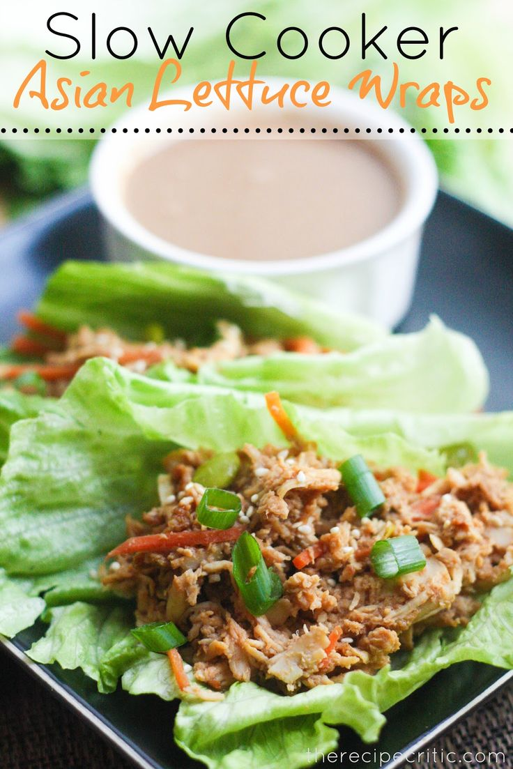 Slow Cooker Asian Lettuce Wraps
