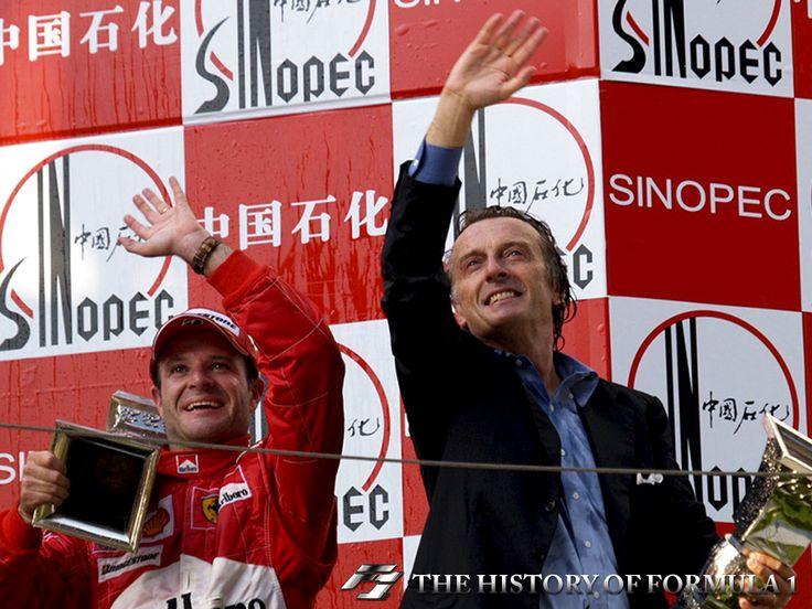 2004 Formula 1 Chinese Grand Prix - Rubens Barrichello & Luca di Montezemolo.