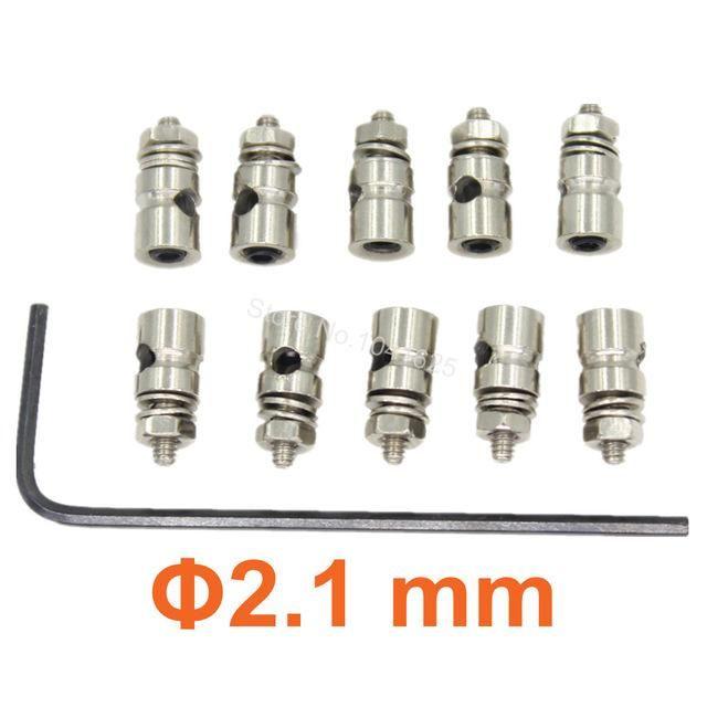 20pcs RC Plane Replacement Linkage Stoppers Grub Screws Pushrod Connectors D2.1 mm D1.8mm D1.3mm For Nitro Electric Model
