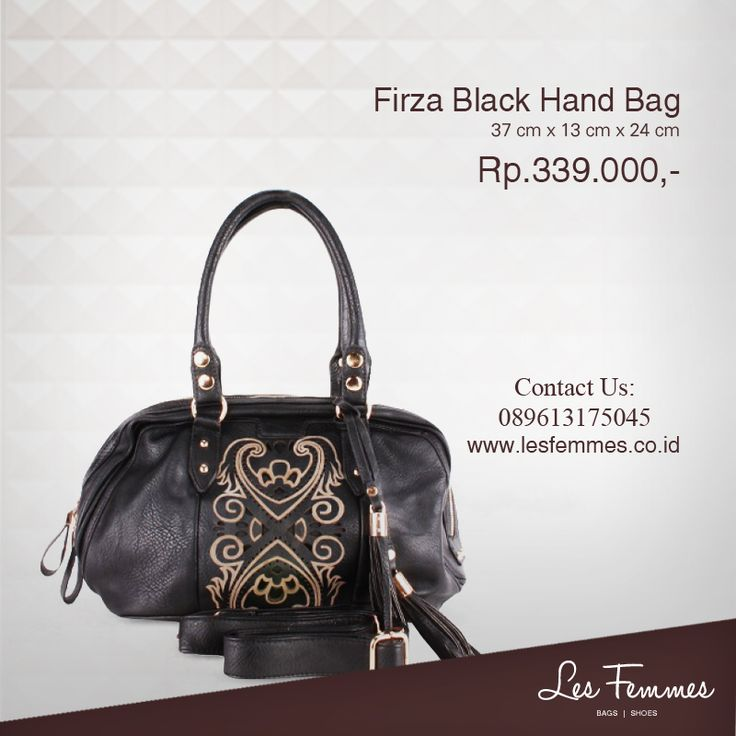 Firza Black Hand Bag 339,000 IDR #Fashion #Woman #bag shop now on http://www.lesfemmes.co.id/hand-bags/firza-black-hand-bag