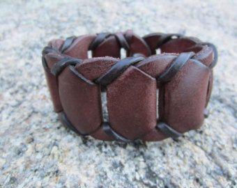 Brown Leather Wristband Cuff Bracelet Wrap Wrist band Men's / Womens