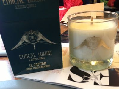 Soy wax scented candle hand poured in London. donations made to eaves charity for each candle sold