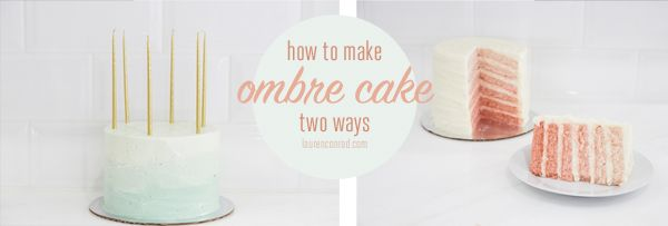 Edible Obsession: Ombre Cake Two WaysHair Care Tips, Diy Ombre, Diy Hair, Hombre Cake, Kev Cake, Easy Diy, Easy Colors Fads, Colors Fads Cake, Edible Obsession
