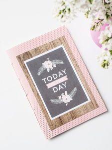 Motivblock, 48 Blatt Happy Day (30,5 x 30,5 cm)