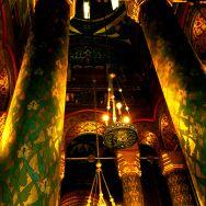 Interior Manastirea Argesului - coloane