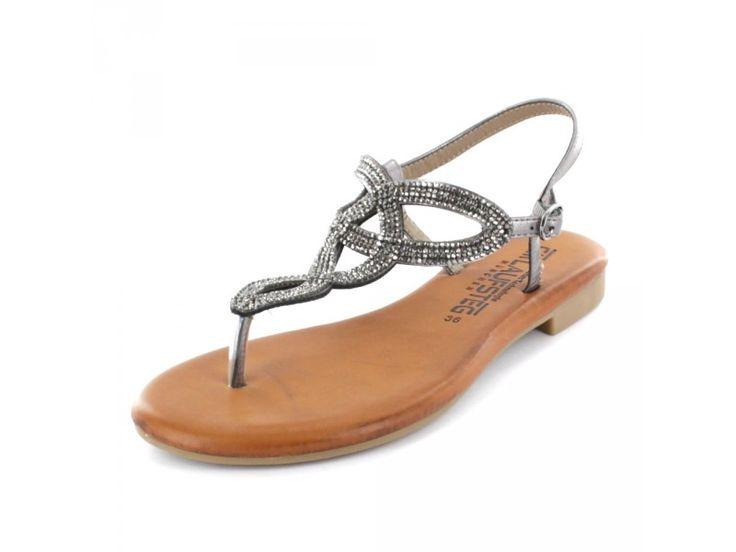 CM Laufsteg - Damen Sandalette mit Glitzer
