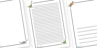 ... template, writing aid, writing border, page template, history, t-rex
