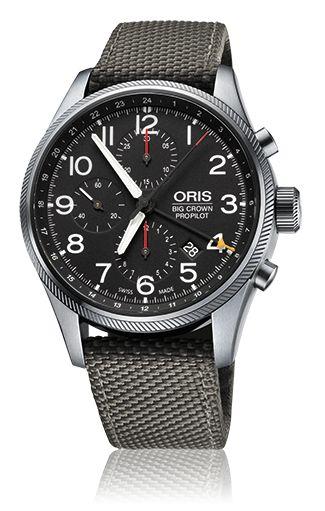 01 677 7699 4164-07 5 22 15FC - Oris Big Crown ProPilot Chronograph GMT - Oris Big Crown ProPilot - Aviatik - Kollektion - Oris - Rein mechanische Schweizer Uhren.