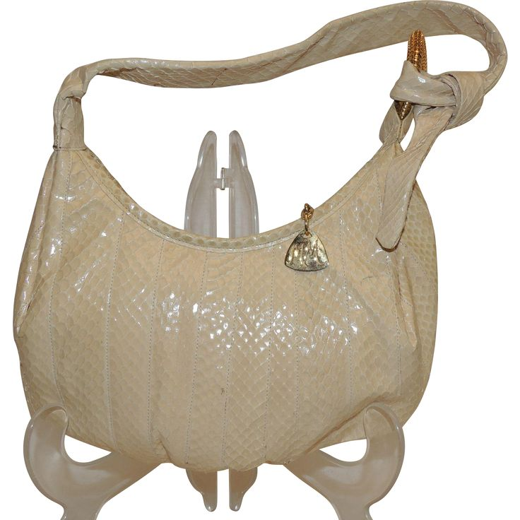 Vintage Morris Moskowitz Genuine Reptile Purse Shoulder Bag from Totty's Antiques and Collectibles Exclusively on Ruby Lane.