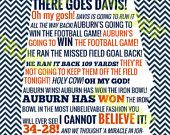 Auburn vs Georgia Radio Call State Outline by NovaWebDevelopment