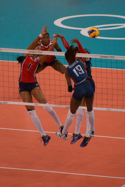 famous women volleyball players usa | Hooker - Olympic Women's Volleyball - Dominican Republic vs Team USA ...