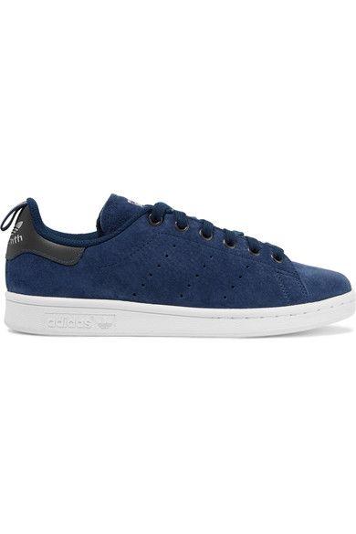 adidas Originals - Stan Smith Suede Sneakers - Storm blue - US9.5