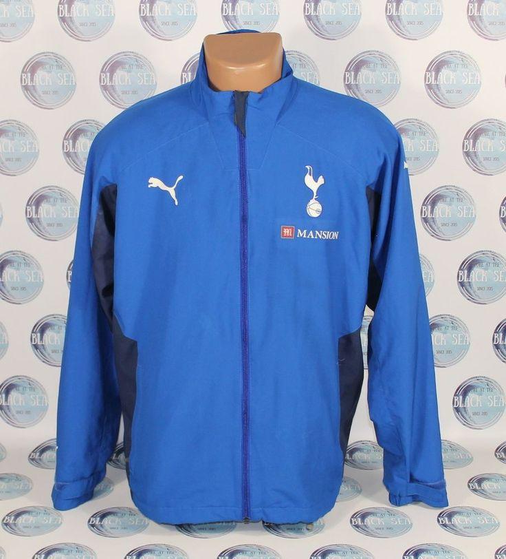 TOTTENHAM HOTSPUR 2000'S  2010'S FOOTBALL SOCCER JACKET COAT PUMA BLUE  #Underarmour #TottenhamHotspur