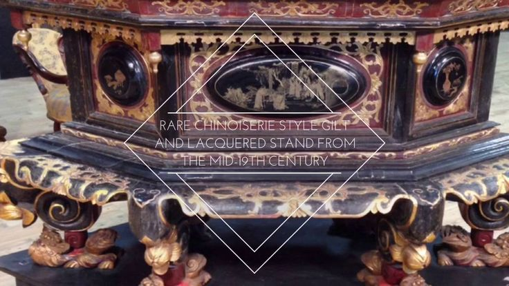 Rare chinoiserie style gilt and lacquered stand from the mid-19th century - YouTube  #antiques #antiquariato #furniture #livingroom #mobile #arredamento #decoration #decorative Visit our website www.parino.it