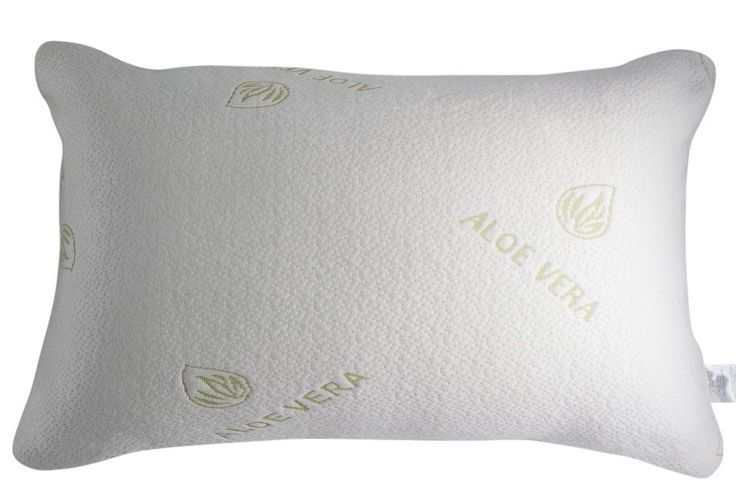 Bamboo Pillow Queen Cooling Memory Foam Pillow Natural Aloe Vera Infused Cover