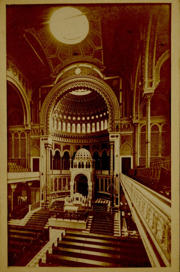rare cdv photo of New Synagogue Berlin when close to new