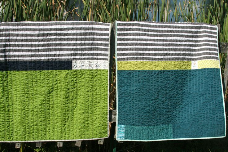 twin-stripes. Very simple baby quilts, love them!