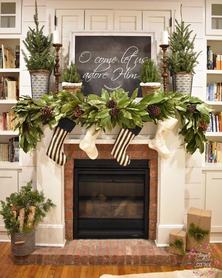 Best 25+ Christmas fireplace garland ideas on Pinterest ...