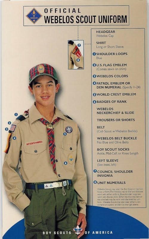 The Webelos Uniform - Cub Scout Attleboro Pack 24 - Fun for boys since 1948