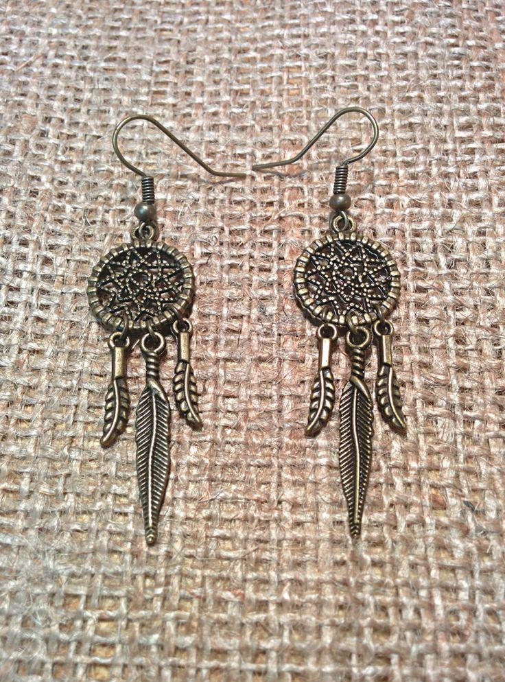 ☮ American Hippie Bohemian Boho Style ~ Jewelry .. Dreamcatcher Earrings