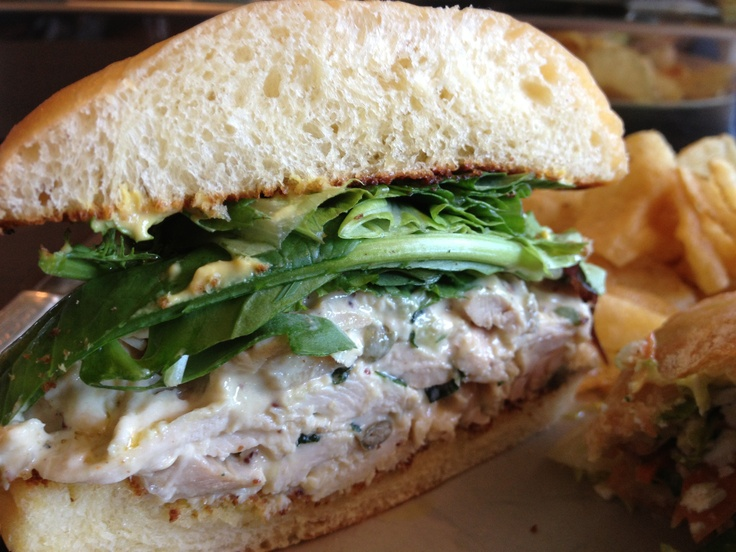 Olympic Provisions, SE Portland. The pesto aioli in this sandwich is to die for.