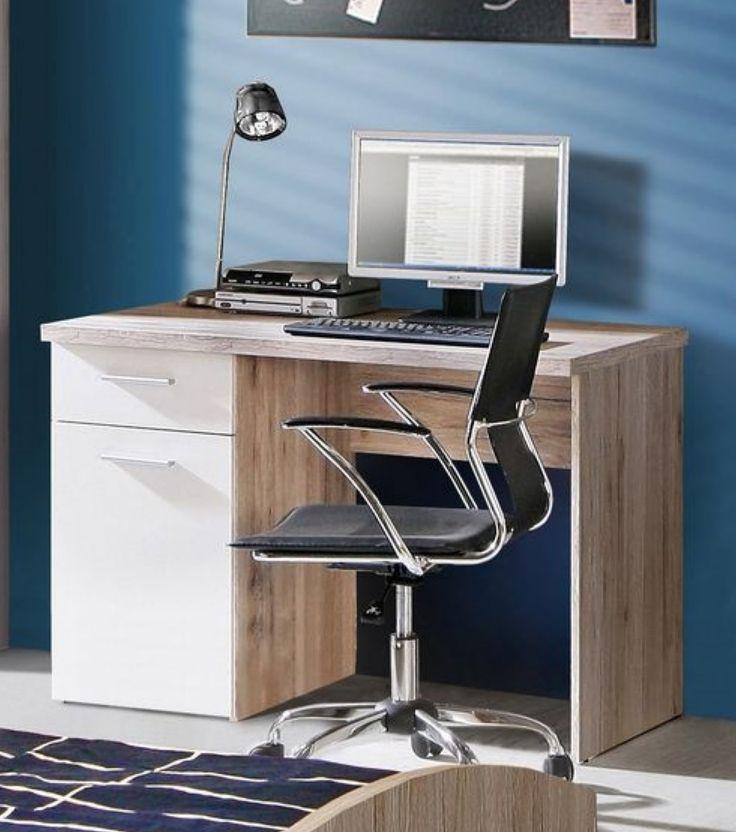 Stunning Schreibtisch Weiss Mit Sandeiche Woody Modern Jetzt bestellen unter https