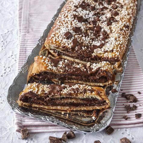 När chokladen smälter blir den en smarrig fyllning i längden.