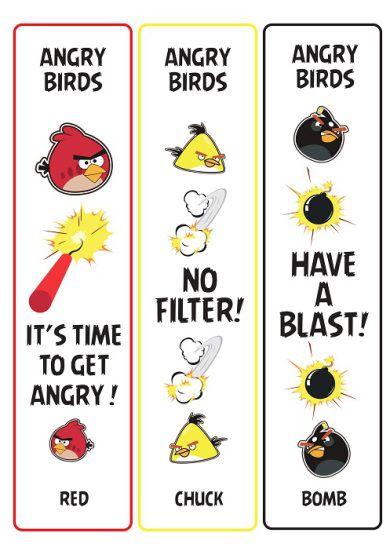 Zakładki Angry Birds bookmarks