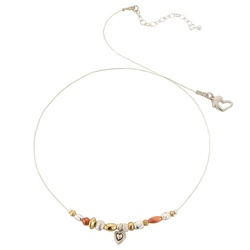gold silver and copper all in one necklace. So delicate and stylish for valentines