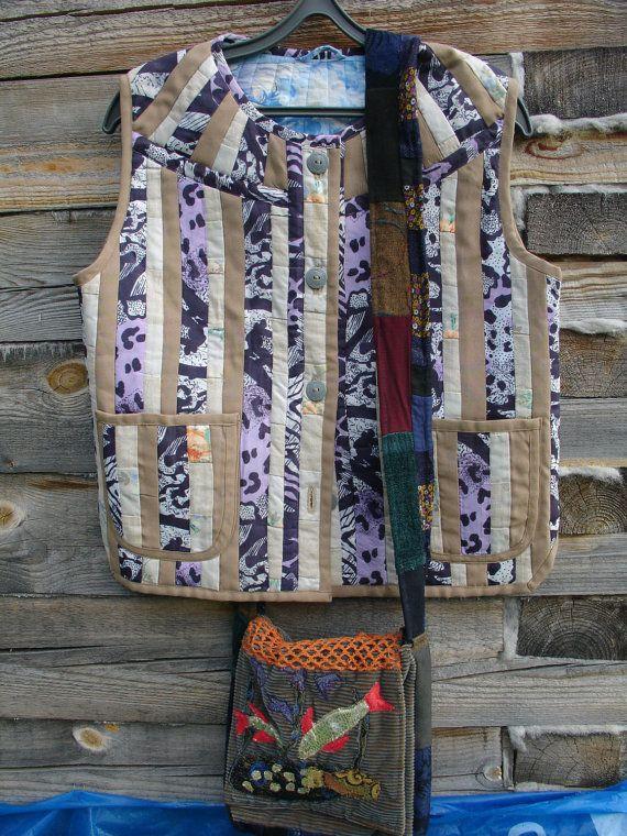 patchwork jacket by SKOROPOSLUSHNITSA on Etsy
