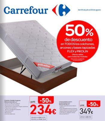"""Catálogo Carrefour del 25 de julio al 23 de agosto - Equipa tu vivienda -  Catálogo Carrefour """"Equipa tu vivienda"""" disponible del 25 de julio al 23 de agosto de 2017. 50% de descuento en todos los colchones y arcones y bases tapizadas FLEX y PIKOLIN, ofertas en todas las medidas. En este folleto también podrás ver ofertas en lavadoras, aires... #CatálogosCarrefour, #Catálogosonline  #Flex, #Pikolin Ver en la web : https://ofertassupermercados.es/catalogo"""