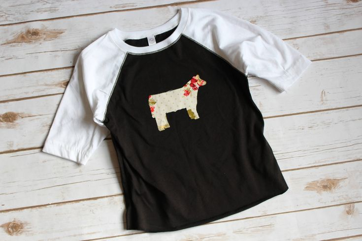 Excited to share the latest addition to my #etsy shop: Kids Raglan shirt / Show Pig / Show Lamb / Show steer / livestock show shirt / girls baseball tee #children #girl #floral #clothing