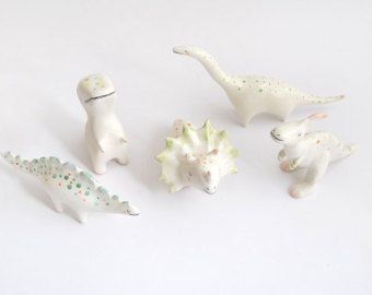 Arctic Fox Ceramic Miniature Arctic Fox Totem in di Barruntando