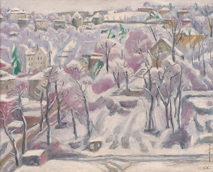 Ernest Zmeták: Pohľad z atelieru v zime:1971