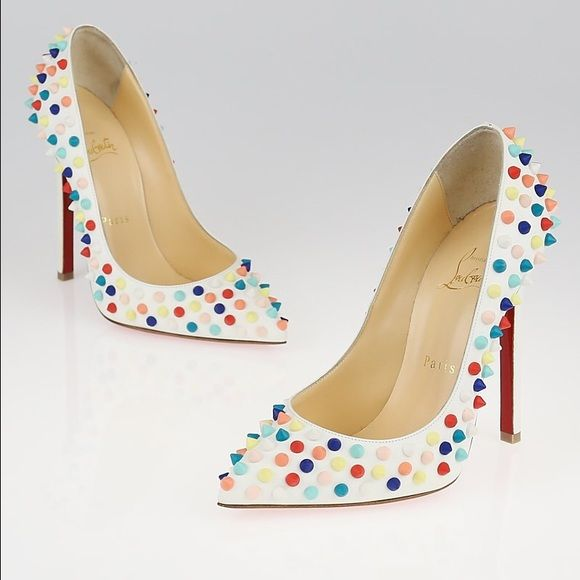 LOUBOUTIN 120mm Gomme Pigalle Pumps 115mm or 4.5 inches high Leather upper with…