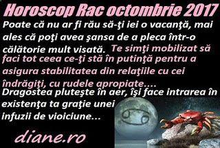 În horoscopul Racului octombrie 2017 se remarcă un bogat aflux de imaginaţie, o interacţiune avantajoasă în sfera socială, posibilitatea de ...