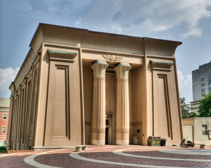 Egyptian Revival Medical College Of Virginia 1845 Thomas Stewart Richmond VA