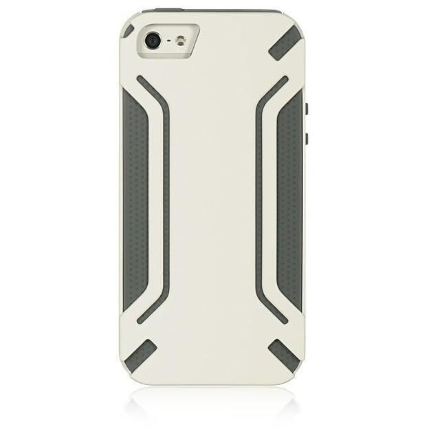 DW High-End Hybrid Protector iPhone 5/5S/SE Case - White/Grey